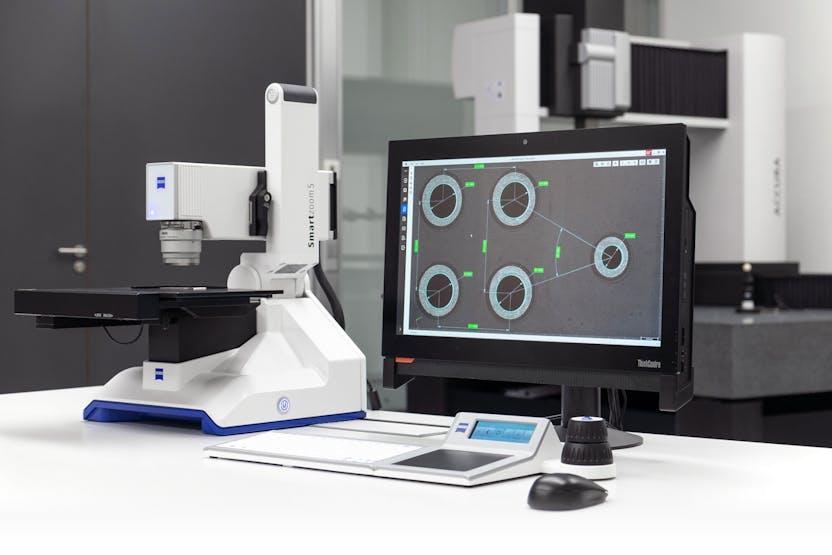 NEO pixel在工业质量实验室中的Smartzoom 5数码显微镜上运行