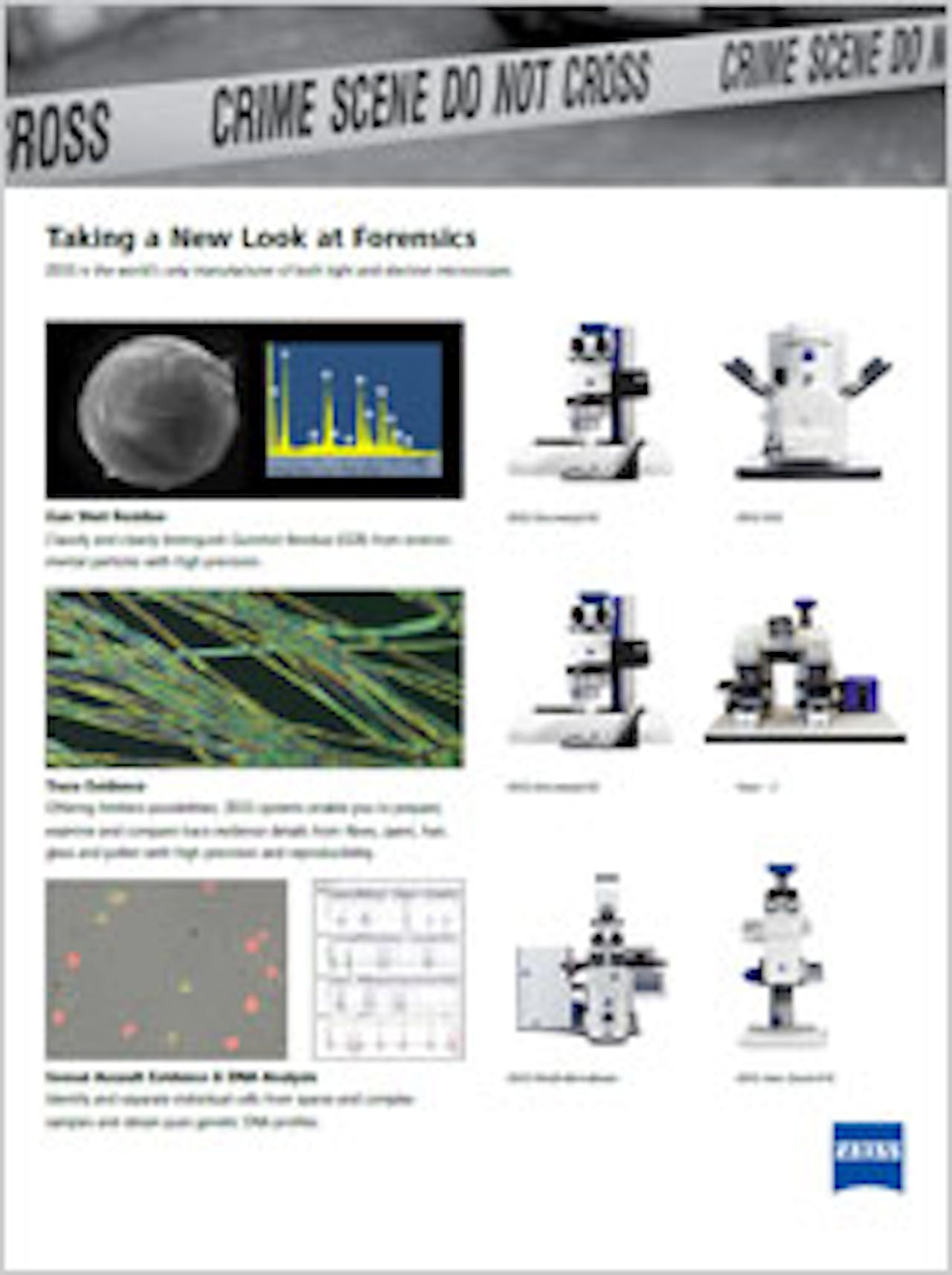 Forensic Gunshot Residue Analysis With Microscopes