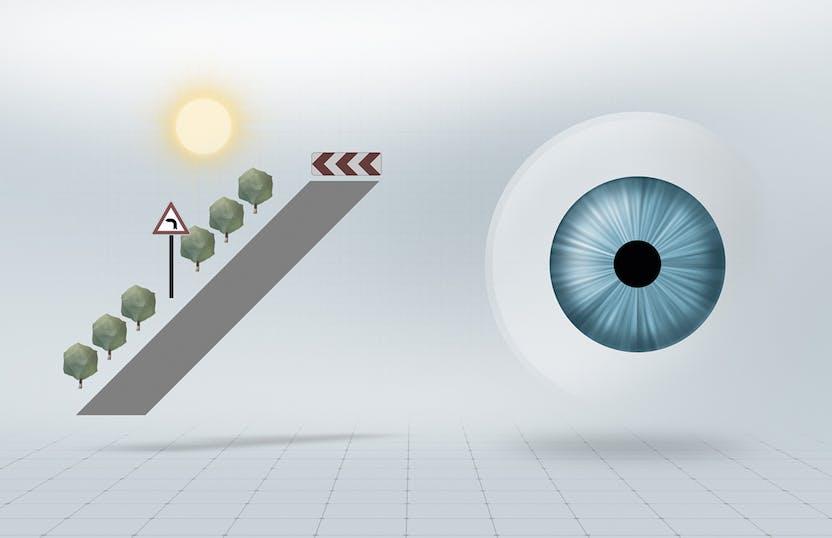 Luz brilhante   visão fotópica, com a pupila pequena grande profundidade de  foco, 64840a4a28