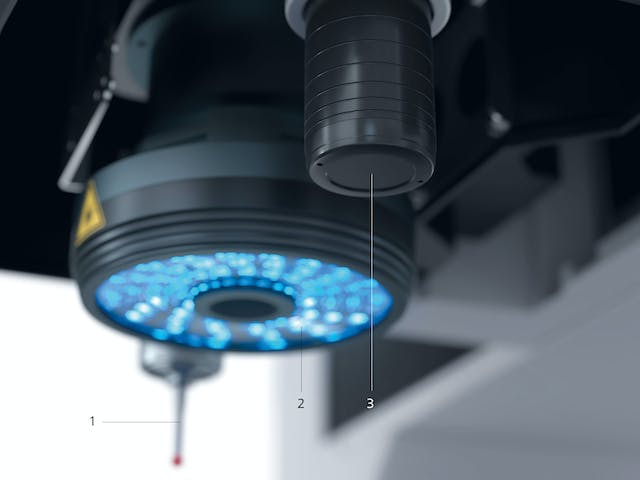With ZEISS-INSPECT and ist zoom lens ZEISS Discovery and the scanning sensor ZEISS VAST XXT tactile and optical measurements are possible