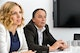 """""""Packaging is no longer a singular product, it has become a high-tech functional unit,"""" explains Helmut Reckziegel (right), Head of the Capsules business unit, sitting next to Karoline Schmalwieser (left), Head of Communications."""