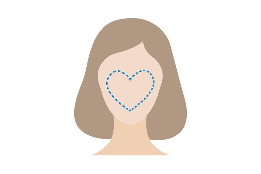 Visi triangolari o a forma di cuore