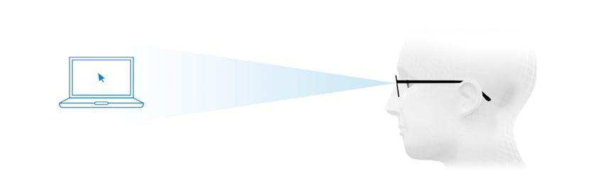Optimális látás távolra a szemüveglencse felső részén da5aa1496b