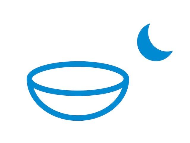 目の表面の形状を変えるハードコンタクトレンズの夜間装用(オルソケラトロジー)