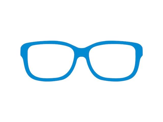 一般の近視用メガネ