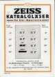 Advertising for ZEISS Katral lenses published in 1928