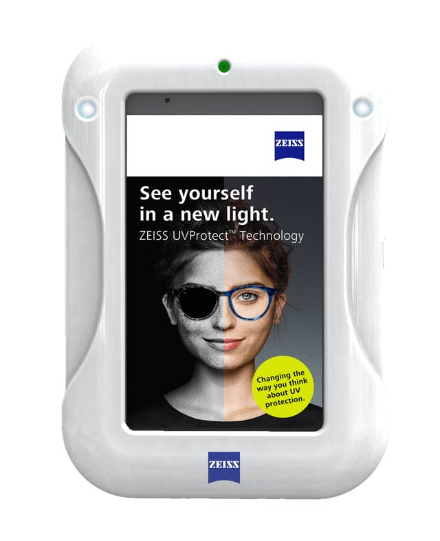964ace352329 ZEISS partnered with Sunscreenr to develop the ZEISS C-UV400 tablet  specially designed to illustrate the amount of UV protection present in a  pair of ...